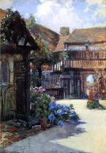 Courtyard Scene, Inn of William the Conqueror - Francis Hopkinson Smith