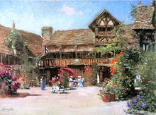 The Garden Courtyard of the Inn of William the Conquerer