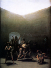 Courtyard with Lunatics - Francisco Jose de Goya Y Lucientes