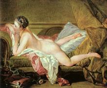 Nude on a Sofa (Reclining Girl)