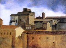 Roofs of Rome with a Square Tower - Francois-Marius Granet