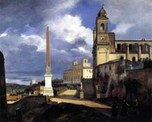 San Trinita dei Monti and the Villa Medici, Rome - Francois-Marius Granet