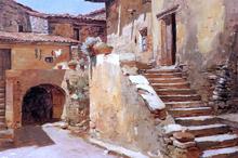 An Italian Courtyard - Frank Duveneck