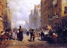 The Jewish Quarter in Amsterdam - Frans Arnold Breuhaus De Groot