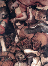 The Fall of the Rebellious Angels (detail) - The Elder Frans Floris