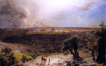 Jerusalem from the Mount of Olives - Frederic Edwin Church