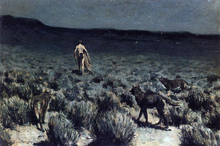 The Wolves Sniffed Along on the Trail, but Came No Closer - Frederic Remington