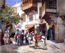 Marketplace in North Africa - Frederick Arthur Bridgeman