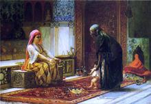Mother and Child - Frederick Arthur Bridgeman