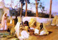 Women at the Cemetery - Frederick Arthur Bridgeman