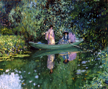 Grey Day on the River (also known as Two Ladies in a Boat) - Frederick Carl Frieseke