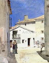 A Street in Denia, Spain - Frederick Childe Hassam