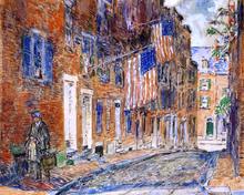 Acorn Street, Boston - Frederick Childe Hassam