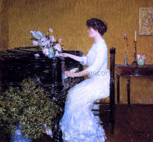 At the Piano - Frederick Childe Hassam