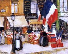 Bastille Day, Boulevard Rochechouart, Paris - Frederick Childe Hassam
