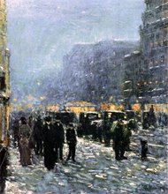 Broadway and 42nd Street - Frederick Childe Hassam