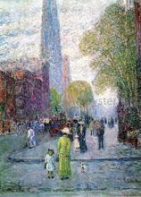 Cathedral Spires, Spring Morning - Frederick Childe Hassam