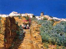 Church Procession, Spanish Steps - Frederick Childe Hassam