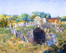 A Colonial Graveyard at Lexington - Frederick Childe Hassam