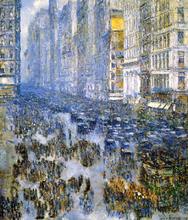 Fifth Avenue in Winter - Frederick Childe Hassam