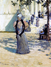 A Figures in Sunlight - Frederick Childe Hassam