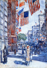 Flags, Fifth Avenue - Frederick Childe Hassam
