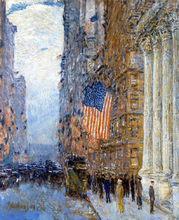 Flags on the Waldorf - Frederick Childe Hassam