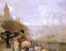 Flower Girl by the Seine, Paris - Frederick Childe Hassam