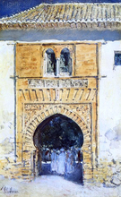 Gate of The Alhambra - Frederick Childe Hassam