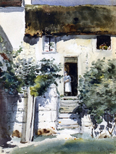 A Girl in a Doorway - Frederick Childe Hassam