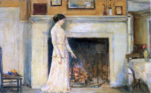 A Girl Standing - Frederick Childe Hassam