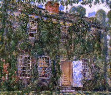 A Home Sweet Home Cottage, East Hampton - Frederick Childe Hassam