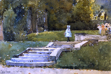 In the Park at St. Cloud - Frederick Childe Hassam