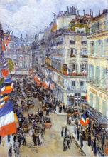 July Fourteenth, Rue Daunou - Frederick Childe Hassam