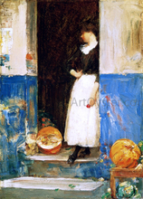 La Fruitiere (also known as A Fruit Store) - Frederick Childe Hassam