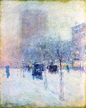 Late Afternoon, New York: Winter - Frederick Childe Hassam