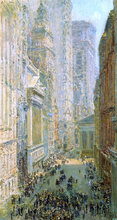 Lower Manhattan (also known as Broad and Wall Streets) - Frederick Childe Hassam