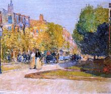 Marlborough Street, Boston - Frederick Childe Hassam