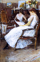 Mrs. Hassam and Her Sister - Frederick Childe Hassam
