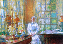 Mrs. Holley of Cos Cob, Connecticut - Frederick Childe Hassam