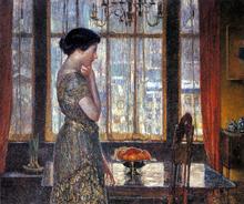New York Winter Window - Frederick Childe Hassam