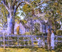 Old Mumford House, Easthampton - Frederick Childe Hassam