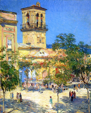 Street of the Great Captain, Cordoba - Frederick Childe Hassam