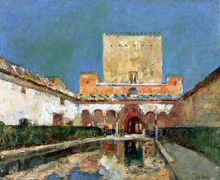 The Alhambra (also known as Summer Palace of the Caliphs, Granada, Spain) - Frederick Childe Hassam