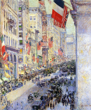 Up the Avenue from Thirty-Fourth Street, 1917 - Frederick Childe Hassam