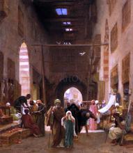 Bazaar in Cairo - Frederick Goodall