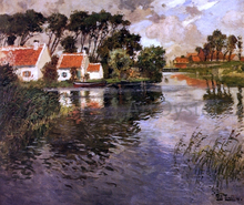 Cottages by a River