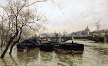 Flooding by the Seine