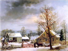 A New England Winter Scene - George Henry Durrie