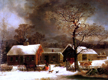 A Winter Scene in New Haven - George Henry Durrie